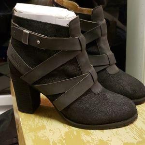 """Bon Ditch""""Frances""""-Ankle Boots-Blck Suede 8.5/BNIB"""